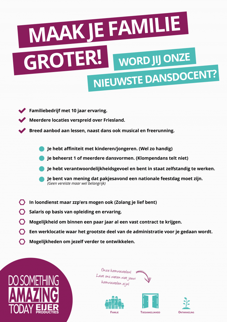 Vacature_Dansdocent_Poster